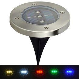 $enCountryForm.capitalKeyWord UK - IP65 LED Underground Light 3leds LED Solar Power Stainless Steel Ground Floor Light Garden Lamp Solar led Lighting