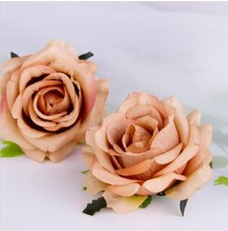 Diy Flower Hair Clips NZ - New Diy Curling Simulation Rose Silk Flower Heads Hair Clips Flower Head Garlands Flower Scorsage Wedding Decoration GA225