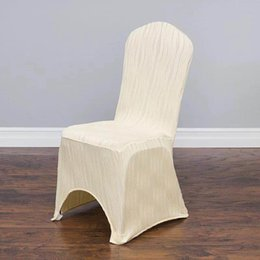 White Spandex For Chairs NZ - New High Quality Universal Spandex Wedding Party Chair Covers White Spandex lycra Chair Cover for Wedding Party Hotel Banquet