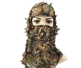 $enCountryForm.capitalKeyWord NZ - Camouflage Leafy Hunting Ghillie Suits Hood Green Leafy Head Net Eyehole Opening and Leaf Pattern Hunting Accessories