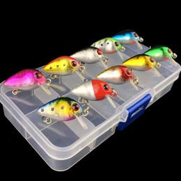 High Quality Fishing Lures Australia - 10pcs High quality Mini Crank Fishing lure bait set kit with case Storage box Crankbait swimbait small mouth bass carp pesca Y18101002