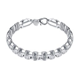 $enCountryForm.capitalKeyWord UK - High quality!Double box hand chain- 925 silver bracelet JSPB137,Beast gift men and women sterling silver plated Chain link bracelets