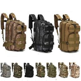 Wholesale 3P Hiking Camping Military Pack Both Shoulders Backpack Rucksack Tactical Travel Bag Rucksacks Camouflage Outdoor Bags Hot Sale ly gg