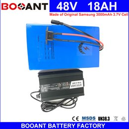 Motor Bicycles Australia - BOOANT For Bafang 1000W Motor 48V 18AH Battery Electric Bicycle Battery 48V for Original Samsung 18650 E-Bike Battery 5A Charger