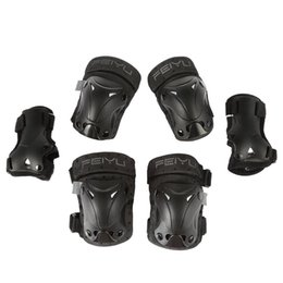 Chinese  6 Pieces Set Adult Children Elbow Knee Pads Wrist Guard Hand Pads Sport Safety for Skateboard Skating Skiing Roller Professional manufacturers