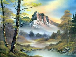 mountain home painting NZ - Mosaic home decoration landscape mountain diy diamond painting cross stitch kit rhinestone full square diamond embroidery zxh0898