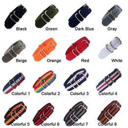 Discount fabric nylon watch strap - 18mm 20mm 22mm 24mm Army Sports nato fabric Nylon watchband Bands Buckle belt For 007 James bond Watch Strap Corlorful R