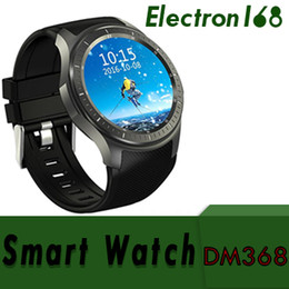 smartwatch android gps UK - DM368 GPS Smart Watch GSM Phone Android 5.1 8GB Heart Rate Monitor Sport Pedometer 3G WCDMA Wifi Bluetooth OLED Smartwatch Wearable Devices