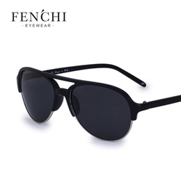 brand x sunglasses NZ - X FENCHI Classic Frame Fashion New pilot man Sunglasses Women Brand Designer Flat Top polarized Male Sunglasses UV400