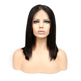 $enCountryForm.capitalKeyWord UK - Short Bob Wigs For Black Women Brazilian Virgin Hair Lace Front Human Hair Bob Wigs 150% Density With Baby Hair