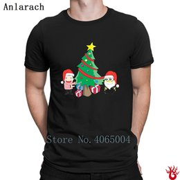 minions christmas gift NZ - Tree Christmas With Santa Minion And Boy Tshirts Outfit Plus Size 3xl Pop Top Tee Men T Shirt 2018 Breathable Gift Standard