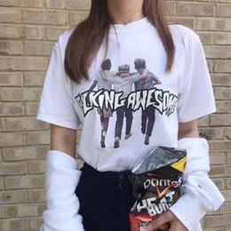 hip hop fashion uk 2019 - 5 Colors Hip Hop Tees T Shirts Men Women Letter Print Cotton 2018 Clothing UK US CA in stock XS-3XL cheap hip hop fashio