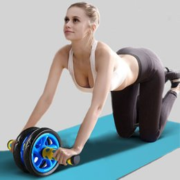 $enCountryForm.capitalKeyWord NZ - No Noise Abdominal Wheel Muscle Trainer Gymnastic Ab Roller With Mat Press for Exercise Fitness Machine Workout