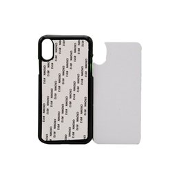 transparent housing for iphone UK - 10pcs Retail 2D Sublimation Blank Phone Case Hard PC for iPhone Xs Xr Xs Max Back Housing with Aluminum Sheet free shipping
