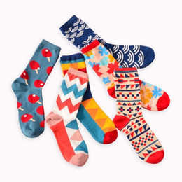 gifts british 2019 - Colour crew cotton happy socks men women british style casual harajuku designer brand fashion novelty art party favor gi