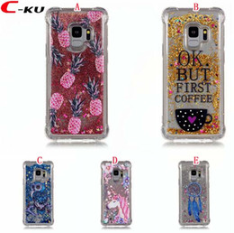 $enCountryForm.capitalKeyWord Canada - Liquid Bling Gitter TPU Soft Case For Iphone X 8 7 6 6S Plus Ipod Touch 6 Unicorn Owl Horse Pineapple Shockproof Quicksand Shiny Skin Cover