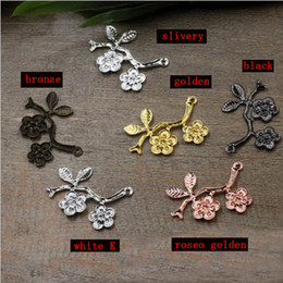 brooches for hair Australia - 29mm beads for Jewelry DIY bracelet necklace earring Brooches Pendants Rings Scrapbook rivet hair Accessories two flower leaf