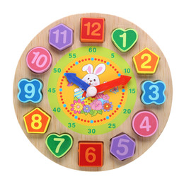 $enCountryForm.capitalKeyWord UK - Cartoon Wooden Toys Puzzle Rabbit Threading Clock Toys For Children Educational Geometry Beads Baby Toys Wood Toy Juguetes