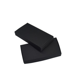black jewellery boxes wholesale NZ - 50Pcs Lot 13.3*6.8*1.8cm Kraf Patper Packaging Boxes For Jewellery Paperboard DIY Gifts Box Wedding Party Favors Package Craft Soap Box