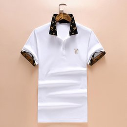 993234375e1f 2018 3D Summer Fashion Brand Men Short-Sleeved Polo Shirts Cuffs Collar  Geometric Pattern Letter Printing Medusa Casual Polo Shirts M-3XL