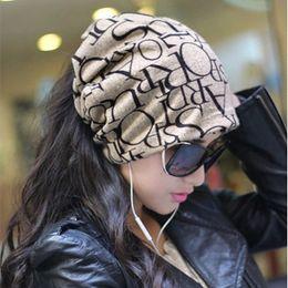 Discount korean hair fashion - 2016 Fashion Korean Women Lady Beanie Scarf Hat Skull Cap Hair Bands 4Colors