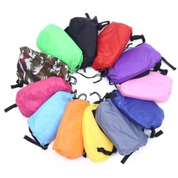 Wholesale 20PCS Lounge Sleep Bag Lazy Inflatable Beanbag Sofa Chair Living Room Bean Bag Cushion Outdoor Self Inflated Beanbag Water Floating Boat