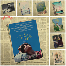 Pink Decorative Paintings Australia - Award winning film Call Me by Your Name Kraft Paper Poster Bar Cafe High quality Printing Drawing core Decorative Painting