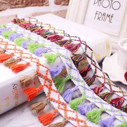 b1d4aa3fa5 Meetee Colorful Cotton Thread Lace Trims DIY Clothing Curtain Lace Tassel  Fringe Sofa Tablecloth Decoration Sewing Accessories
