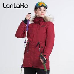 2a13682052 Ski Jackets Fur NZ - 2018 LANLAKA Women Ski Jacket Fur Hooded Waist Rope  Style Snowboard