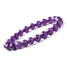 $enCountryForm.capitalKeyWord Australia - 8MM Natural purple black Stone Lapis Carnelian Malachite Tiger Eye Round Beads Stretch Bracelet