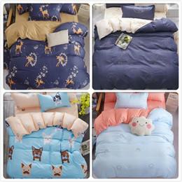 dark chocolate dogs 2019 - Dog Cat Kitty Pattern Soft Cotton Duvet Cover Sheet Pillowcase 3 4 pcs Bedding Sets Kids Child Adult Single Twin Queen K