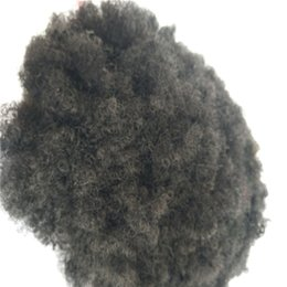 afro kinky straight full lace wig NZ - Afro Kinky Curl Pu Toupee Afro Curly Full Pu Remy Men Toupee High Qulity Replacement System Hair Pu Men Wig