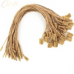 Wholesale Apparel Hang Tags UK - 1000 pieces lot jute hemp hang tag string in apparel 20cm jute hang tag string cord for garment price tag label