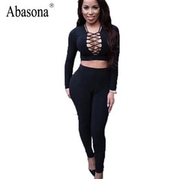 d30ea60278 Sexy Bodycon Long Sleeve Bodysuit Black Criss Cross Skinny Hollow Out  Combinaison Femme Night Club Wear Rompers Womens Jumpsuit