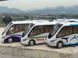 $enCountryForm.capitalKeyWord NZ - 1:32 Scale Diecast Alloy Metal Car Model For Binodal Two-section Travel Tourist Bus Collection Pull Back Toys With Sound&Light