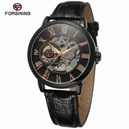 Forsining genuino orologio da uomo meccanico con cavità in Offerta