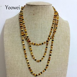 $enCountryForm.capitalKeyWord Canada - Yoowei 45cm--160cm Natural Amber Necklace for Women Baltic Genuine Irregular Long Chain Necklace Precious Stone Amber Jewelry