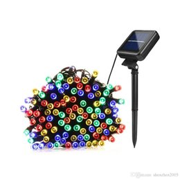 outdoor lighted christmas decorations wholesale 2018 22m 200led solar led string light 12m 100led rgb - Outdoor Lighted Christmas Decorations Wholesale