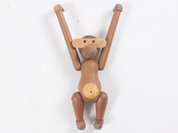 $enCountryForm.capitalKeyWord UK - Natural Wooden Hanging Monkey Doll Figurines Teak Wood Creative Animal Statues Gifts Models Home Decoration Arts and Crafts