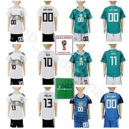 Discount germany jersey black - Youth Germany Soccer Jerseys Set 2018 World Cup 13 MULLER 10 OZIL 17 BOATENG 23 GOMEZ 7 DRAXLER 11 REUS Kids Football Sh