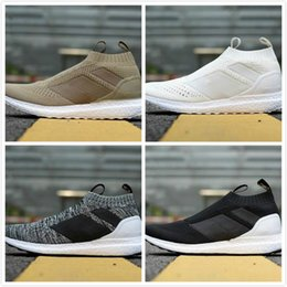 a94f81b3f72aa 05 2018 Casual Shoes Ace 16+ PureControl Ultra Boost Black White Solar  Yellow Men Running Shoes Sneakers Originals FashionRunner Primeknit