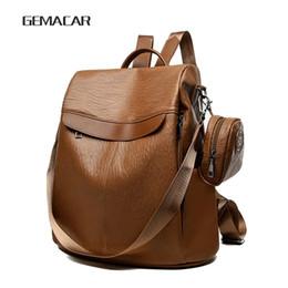 e1c991fd701f7 Eleganter Damen-Rucksack-klassischer Mode-Entwurf weicher PU-Leder-Rucksack  tragen wasserdichte leichte beiläufige Kursteilnehmer-Tasche