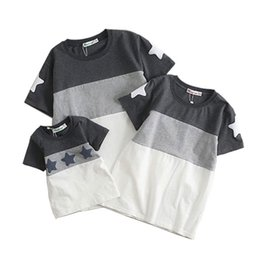 $enCountryForm.capitalKeyWord NZ - Family Look Summer style Short-sleeve Star T-shirt For Mother Daughter And Father Son Clothes Family Matching Clothes 2018