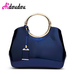 $enCountryForm.capitalKeyWord NZ - Luxury Jelly Ladies Hand Bag 2017 Designer Totes Women Patent Leather Handbags Classic Circle Ring Messenger Bags Large J1808WM