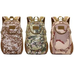 Chinese  LumiParty Male Sports Waterproof Backpacks Adult Outdoor Nylon Package Large Capacity Camouflage Camping Bag manufacturers