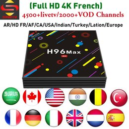 Indian Iptv Boxes NZ - H96 MAX H2 4GB 64GB Lation IPTV Android 7.1 TV Box with SINOTV For Arabic France UK Germany USA Poland Indian Channels