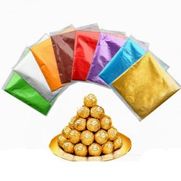 sweet sugar candy UK - Wholesale Crepe Paper Sheets Candy Sugar Chocolate Sweets Confectionary Square Foil Wrapper Package Christmas Tree Gifts Pack