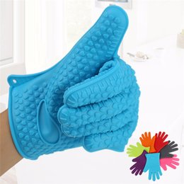 $enCountryForm.capitalKeyWord NZ - Microwave oven Gloves Kitchen Thermal insulation anti Slip Silicone Five Fingers High Temperature Resistant Safe Non-toxic gloves mk794