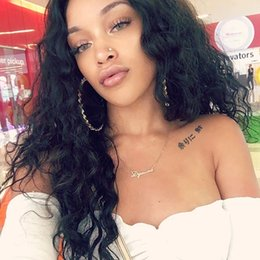 best lace wigs deep wave 2019 - Fashion top grade beauty 100% unprocessed virgin remy human hair long natural color deep wave full lace cap wig best for