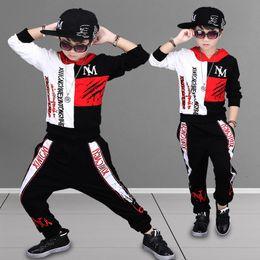 Discount red black hip hop costumes - 2018 Kids Adults Autumn clothing set Costumes Hip Hop dance Pants & Jazz Red Black White Patchwork Sweatshirt kids suits